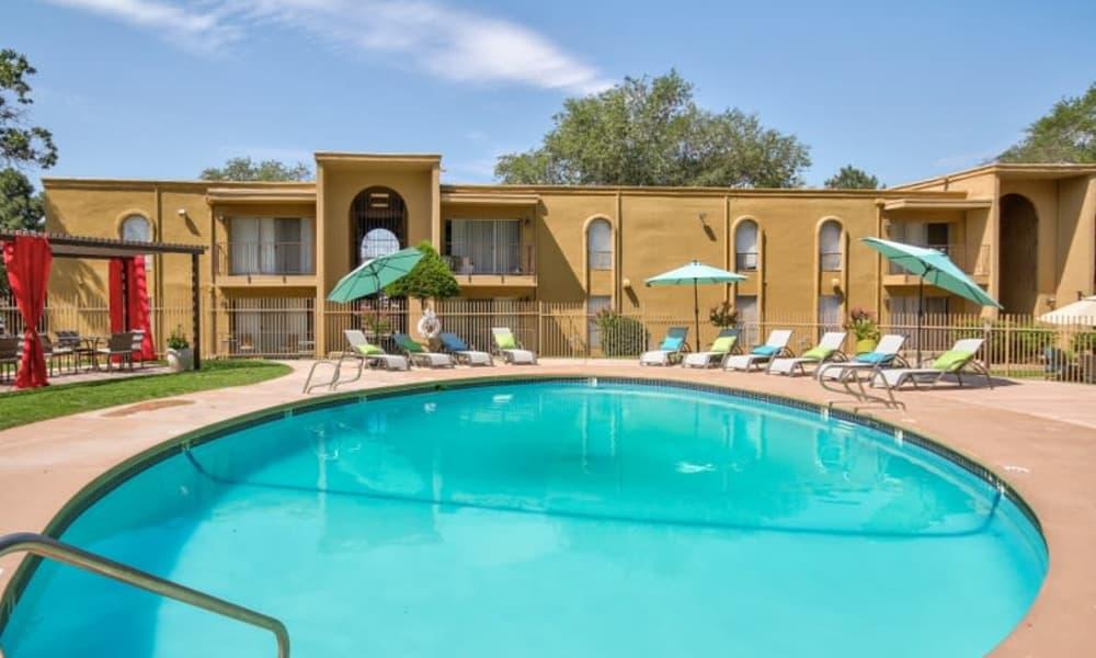 Outdoor pool at Casa Tierra in Albuquerque, New Mexico