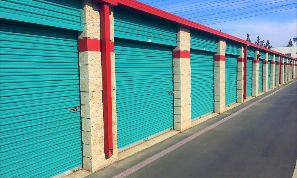 Exterior units at Outback Self Storage in Orange, CA