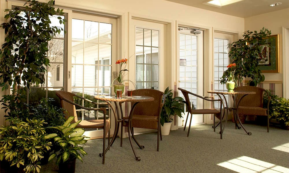 Solarium at Heritage Hill Senior Community in Weatherly, Pennsylvania