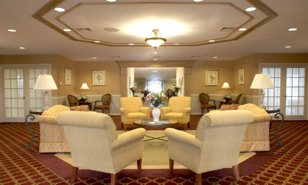 Main common area at Heritage Hill Senior Community in Weatherly, Pennsylvania