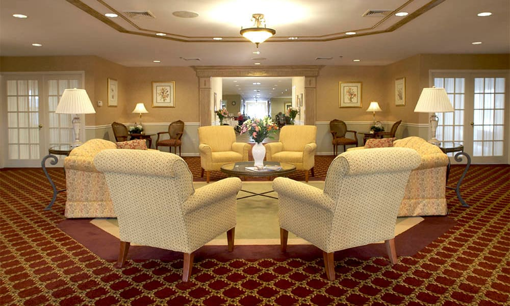 Main lobby at Heritage Hill Senior Community in Weatherly, Pennsylvania