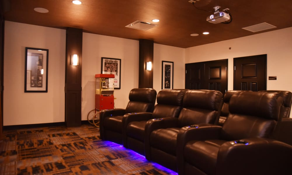 Movie theater for residents at Violet Springs Health Campus in Pickerington, Ohio.