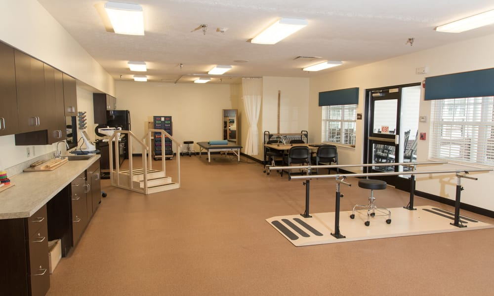 Physical therapy room at Scenic Hills at the Monastery in Ferdinand, Indiana.