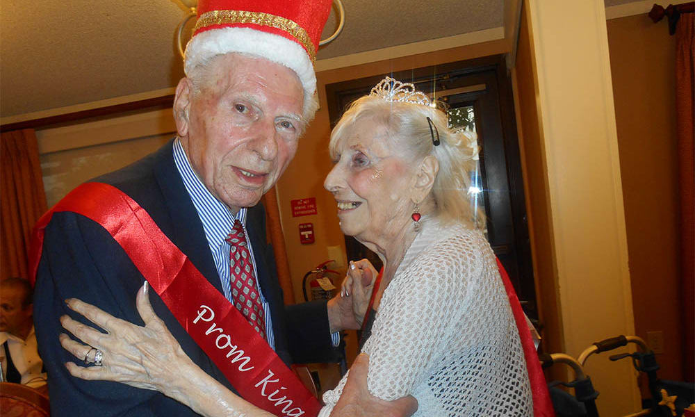 Senior prom king and queen at Cardinal Village in Sewell, New Jersey