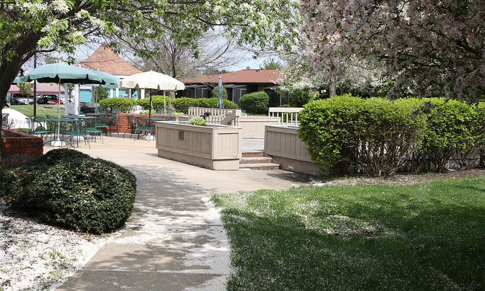 Patio at Cardinal Village in Sewell, New Jersey
