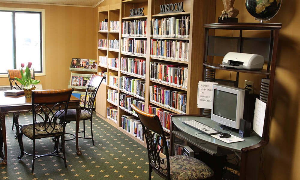 Library and computer room at Cardinal Village in Sewell, New Jersey