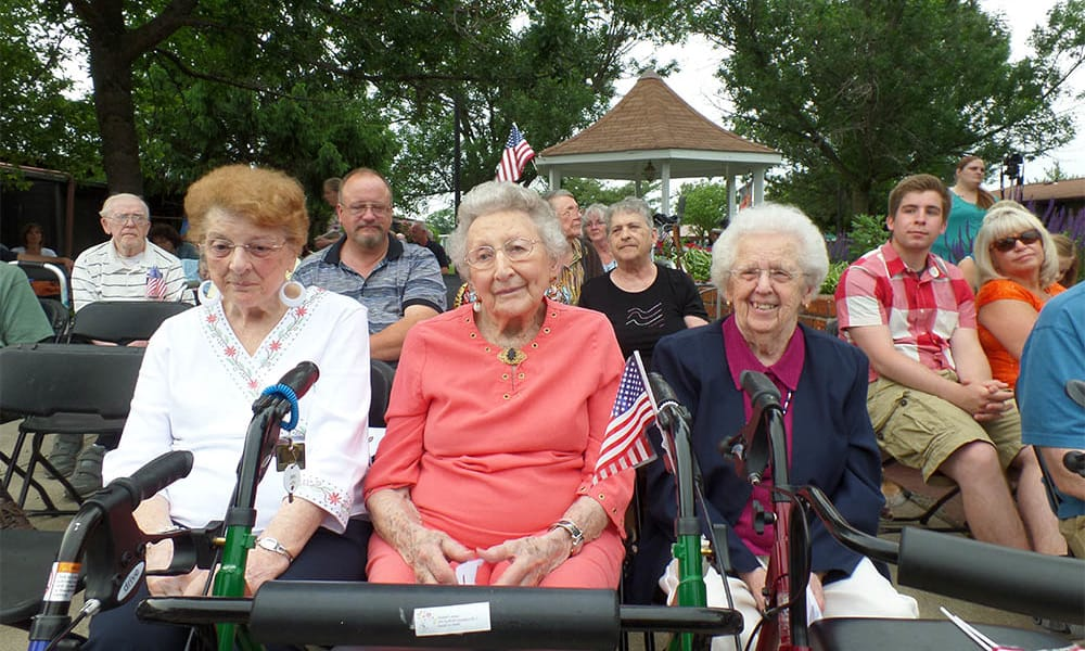 Seniors from Cardinal Village out and about in Sewell, New Jersey