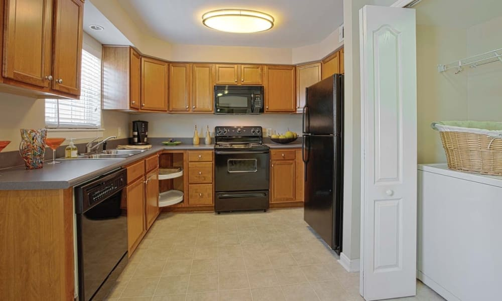 Kitchen at Maple Bay Townhomes in Virginia Beach, Virginia