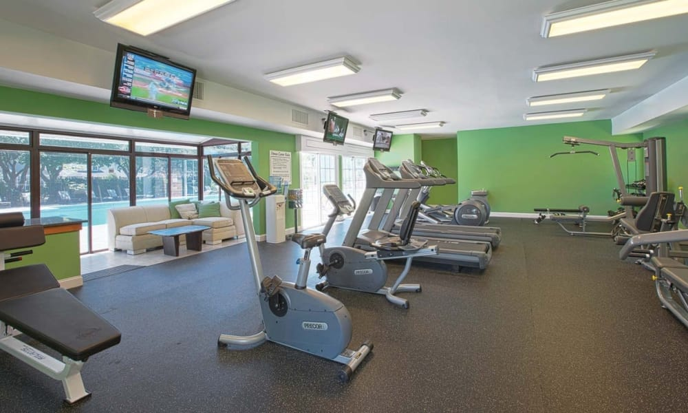 Gym area at Maple Bay Townhomes in Virginia Beach, Virginia