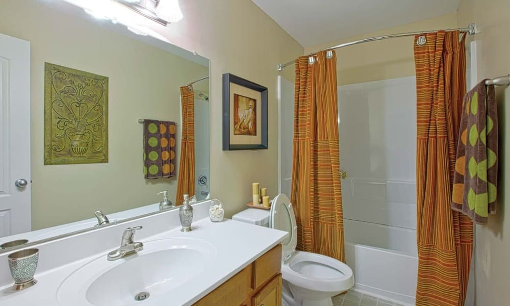 Bathroom at Maple Bay Townhomes in Virginia Beach, Virginia