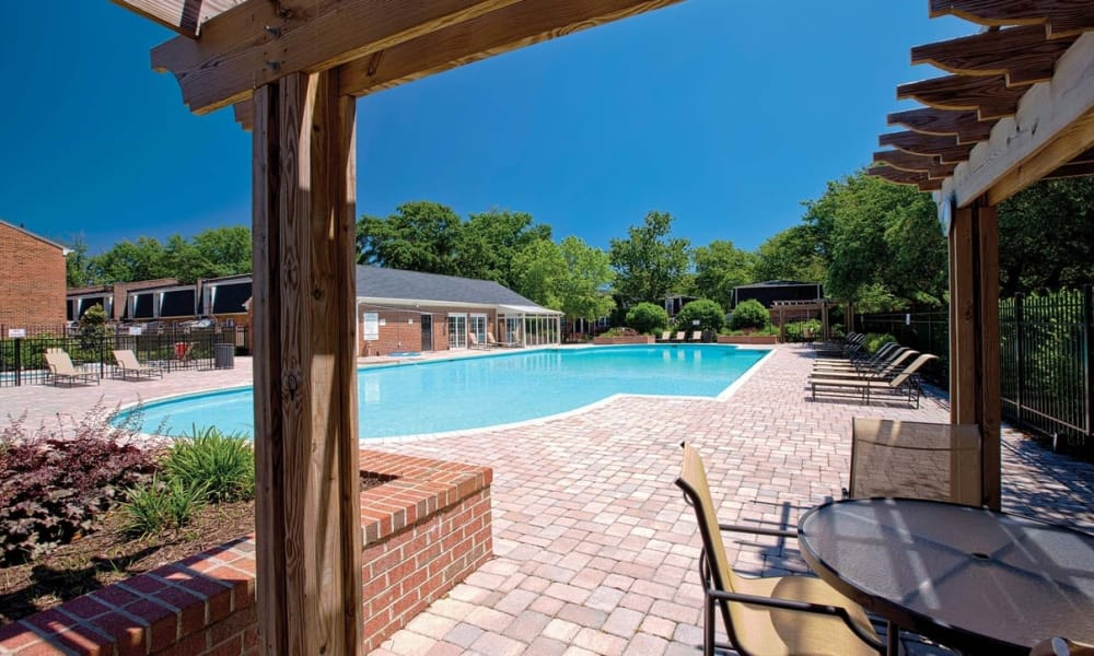 Resort style pool at Maple Bay Townhomes in Virginia Beach, Virginia
