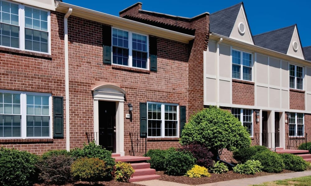Beautiful brick exterior of Maple Bay Townhomes in Virginia Beach, Virginia