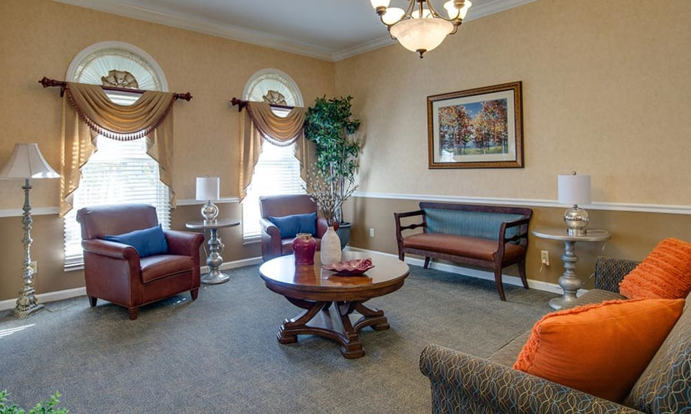 Memory care living space at The Arbors at WestRidge Place Senior Living in Sikeston, Missouri