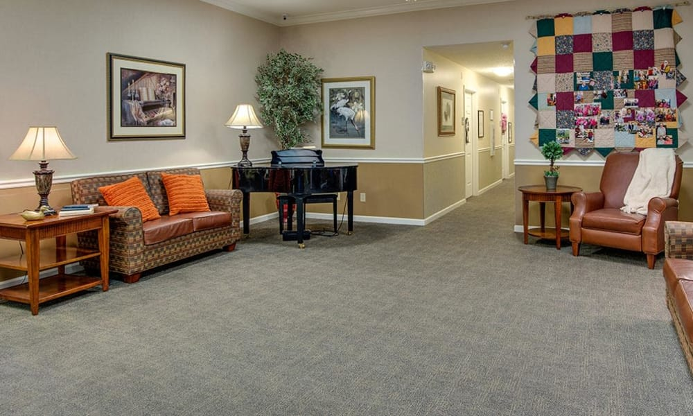Piano at The Arbors at WestRidge Place Senior Living in Sikeston, Missouri