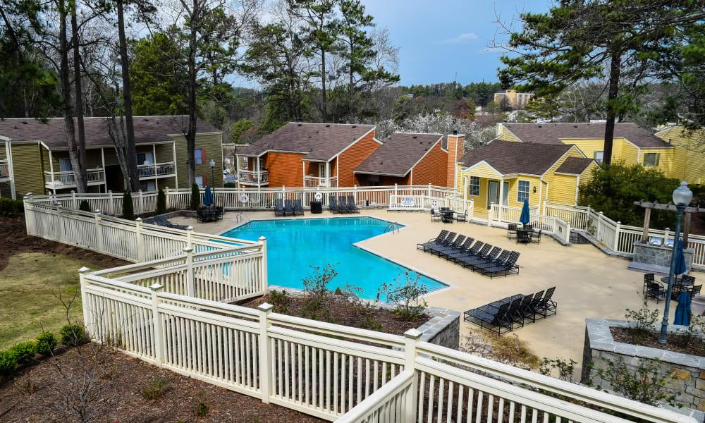 Sparkling pool at Stone Ridge at Vinings in Atlanta, Georgia