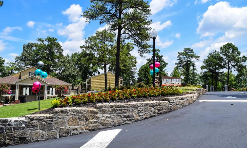 Entrance to Stone Ridge at Vinings in Atlanta, Georgia