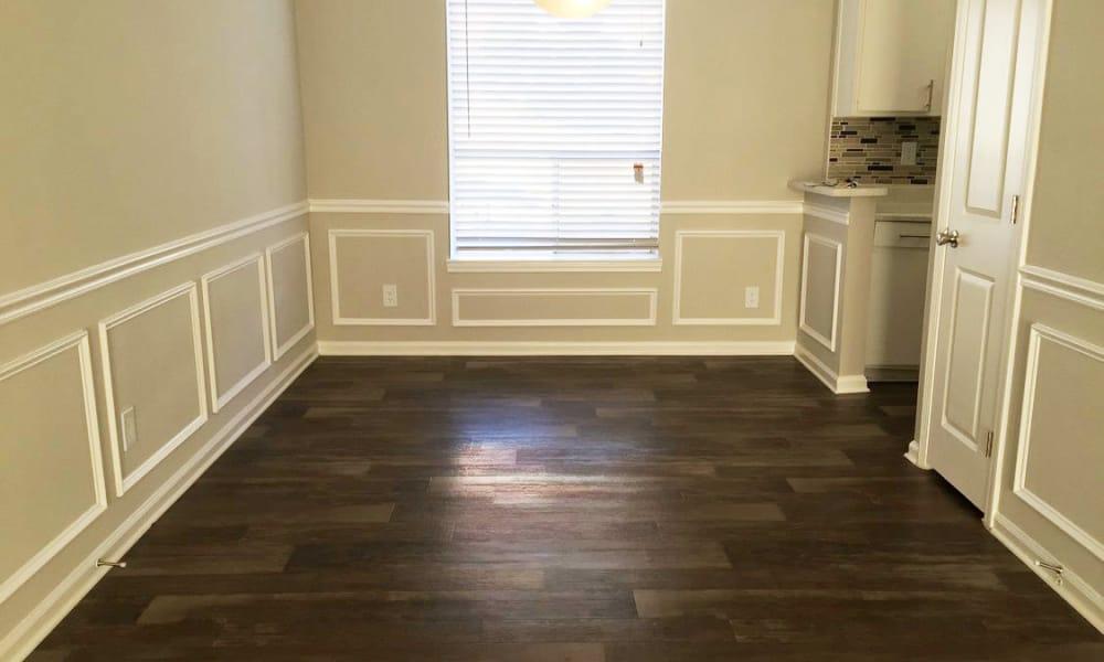 Wood flooring at The Halsten in Atlanta, Georgia