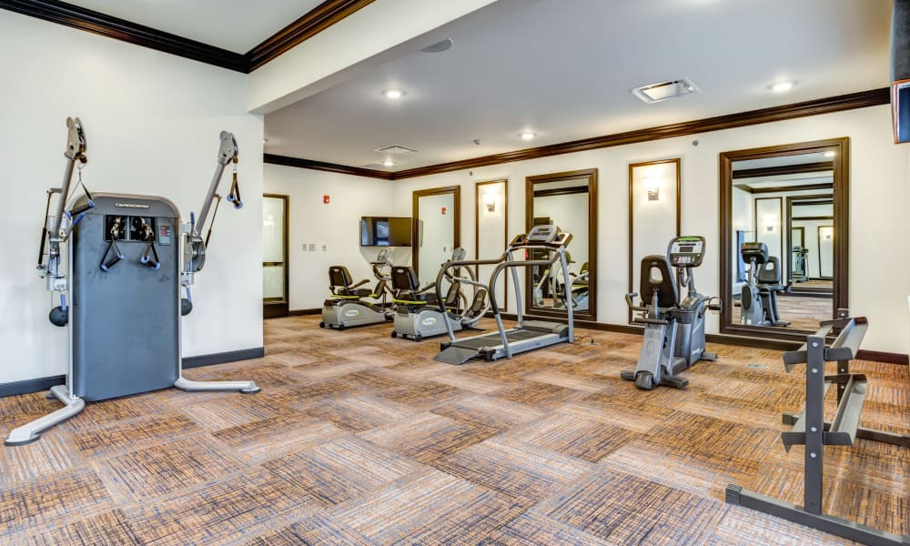 Fitness center at The Oaks at Belmont in Belmont, Michigan