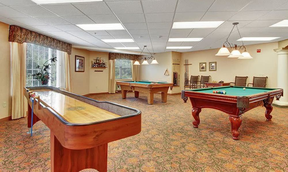 Variety of games at Keystone Villa at Douglassville in Douglassville, Pennsylvania