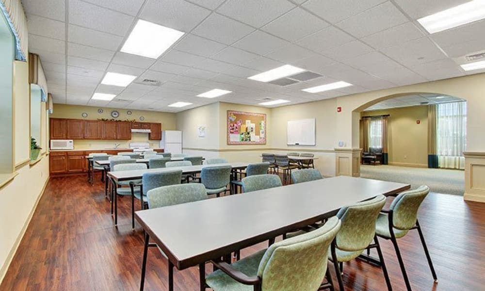 Activity kitchen at Keystone Villa at Ephrata in Ephrata, Pennsylvania