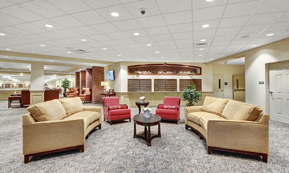 Lobby at Keystone Villa at Ephrata in Ephrata, Pennsylvania
