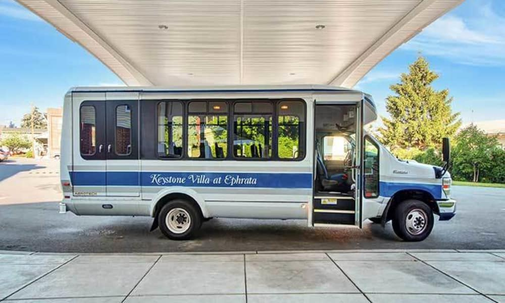 Personal shuttle at Keystone Villa at Ephrata in Ephrata, Pennsylvania