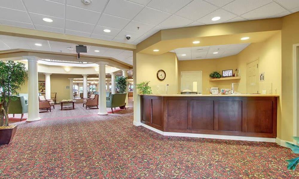 Concierge desk at Keystone Villa at Fleetwood in Blandon, Pennsylvania