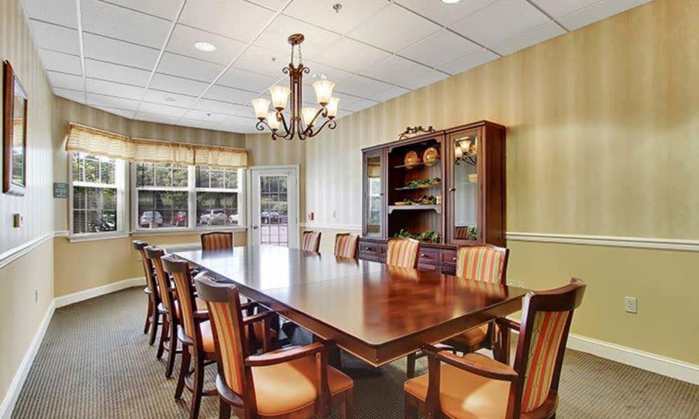 Private dining room at Keystone Villa at Fleetwood in Blandon, Pennsylvania