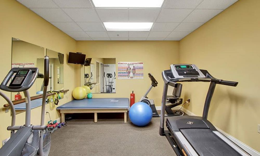 Fitness center at Keystone Villa at Fleetwood in Blandon, Pennsylvania
