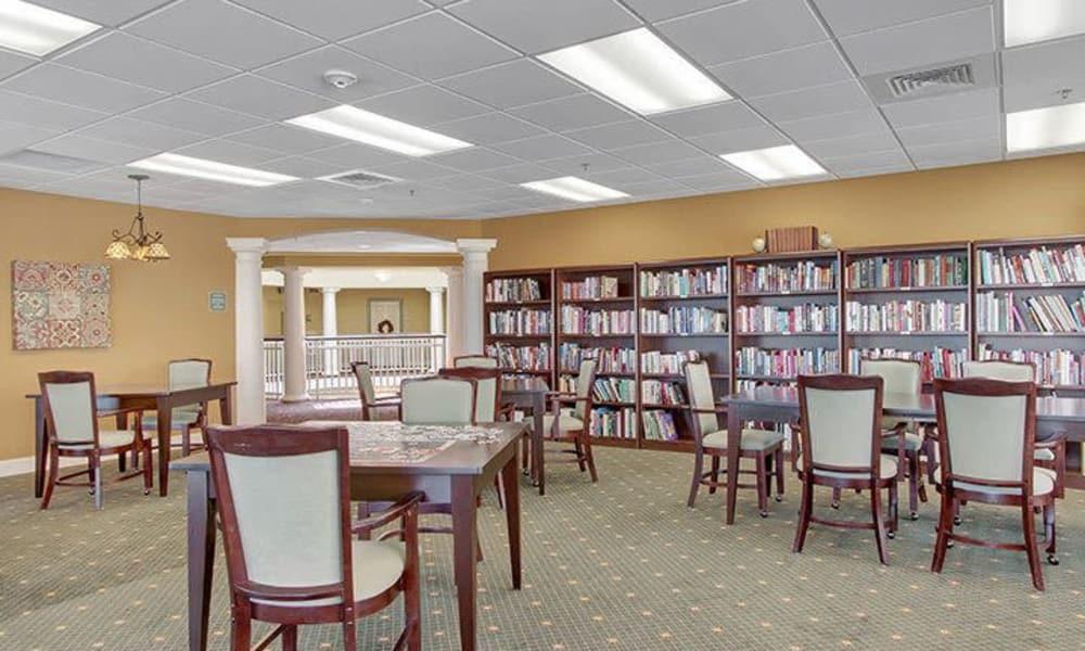 Library at Keystone Villa at Fleetwood in Blandon, Pennsylvania