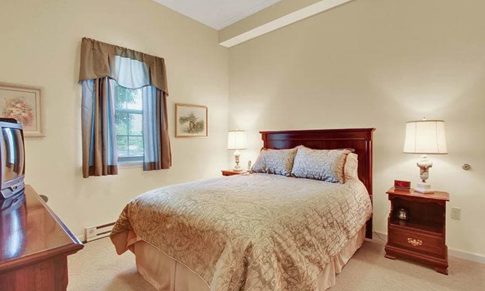 Cozy bedroom at Keystone Villa at Fleetwood in Blandon, Pennsylvania