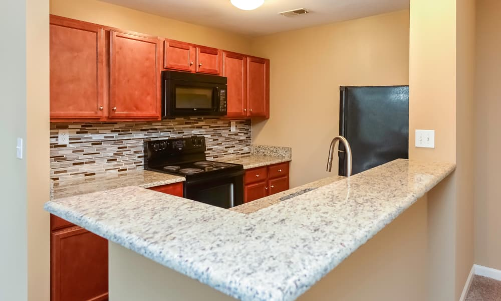 Kitchen at Montgomery Manor Apartments & Townhomes in Hatfield, Pennsylvania