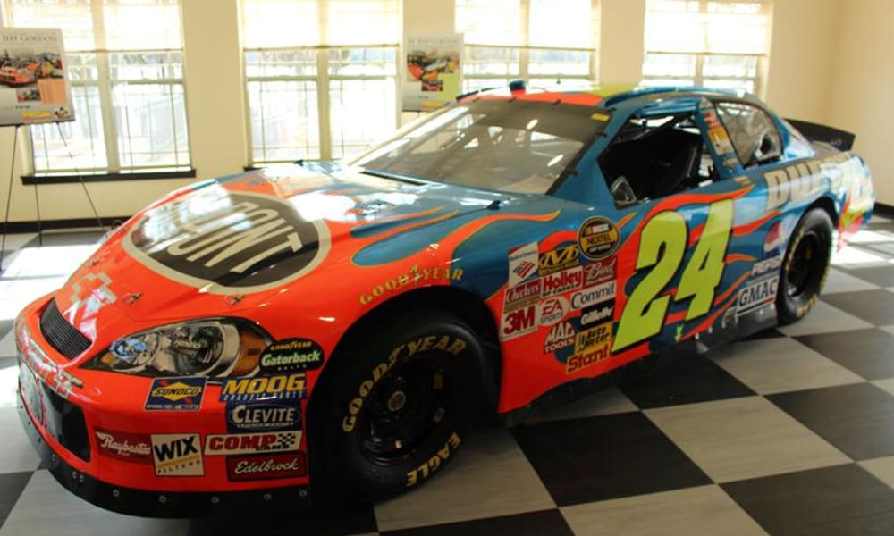 Resident trip from Williams Place Gracious Retirement Living in Davidson, North Carolina to see Jeff Gordon's race car on display