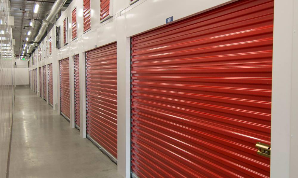 Indoor storage units at Trojan Storage in Oregon City, Oregon