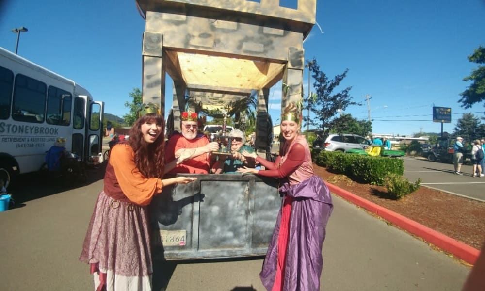 A renaissance themed day at Stoneybrook Assisted Living in Corvallis, Oregon