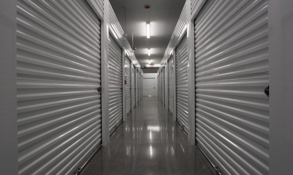 Indoor storage units at StorageMax Tupelo East in Tupelo, Mississippi