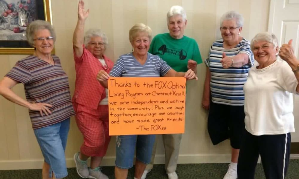 Residents having fun at Chestnut Knoll in Boyertown, Pennsylvania