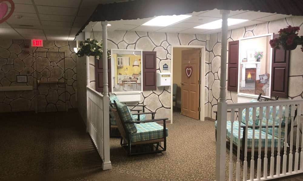 Memory care entrance at Chestnut Knoll in Boyertown, Pennsylvania