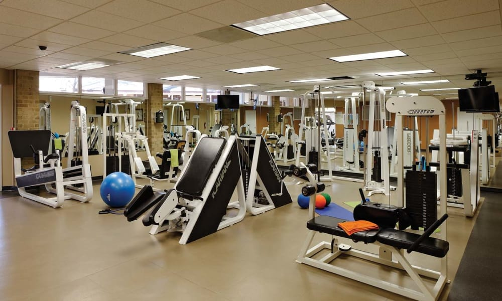 Fitness center for residents at Mount Vernon Square Apartments in Alexandria, Virginia