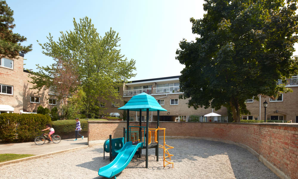 Playground at Bayview Mews in North York, Ontario
