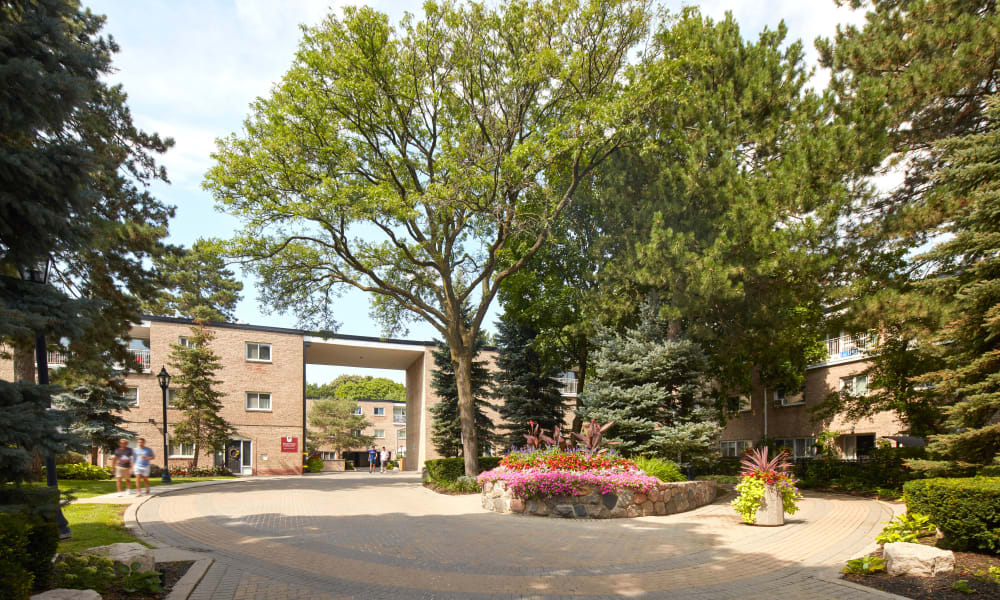 Entrance of Bayview Mews in North York, Ontario