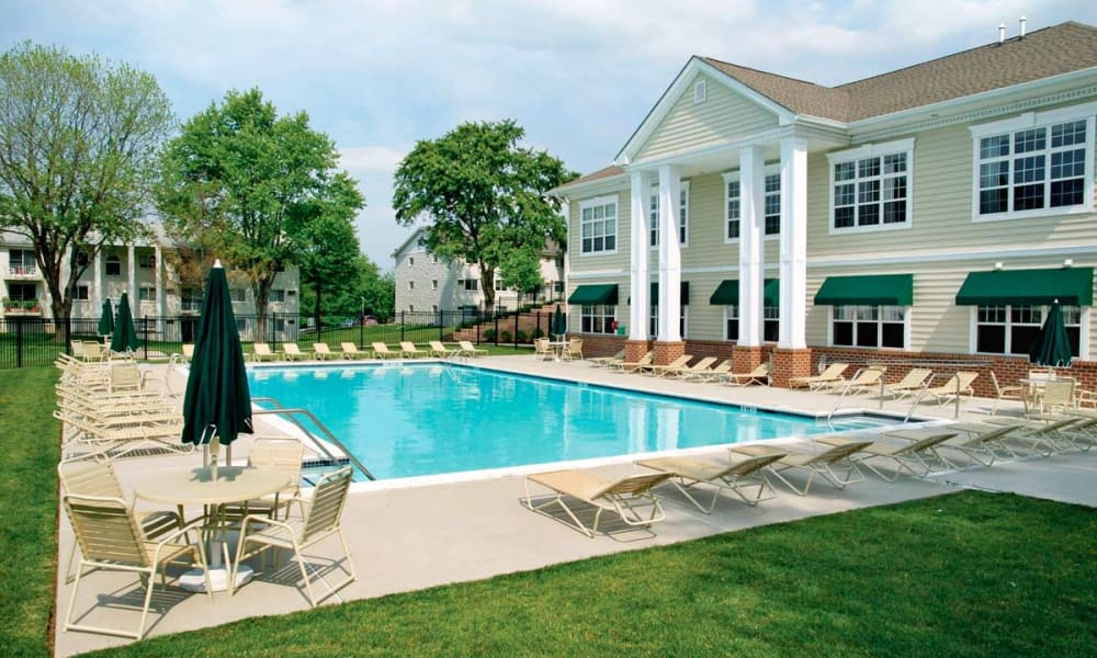 Resort-style swimming pool at Stonegate at Devon Apartments in Devon, Pennsylvania