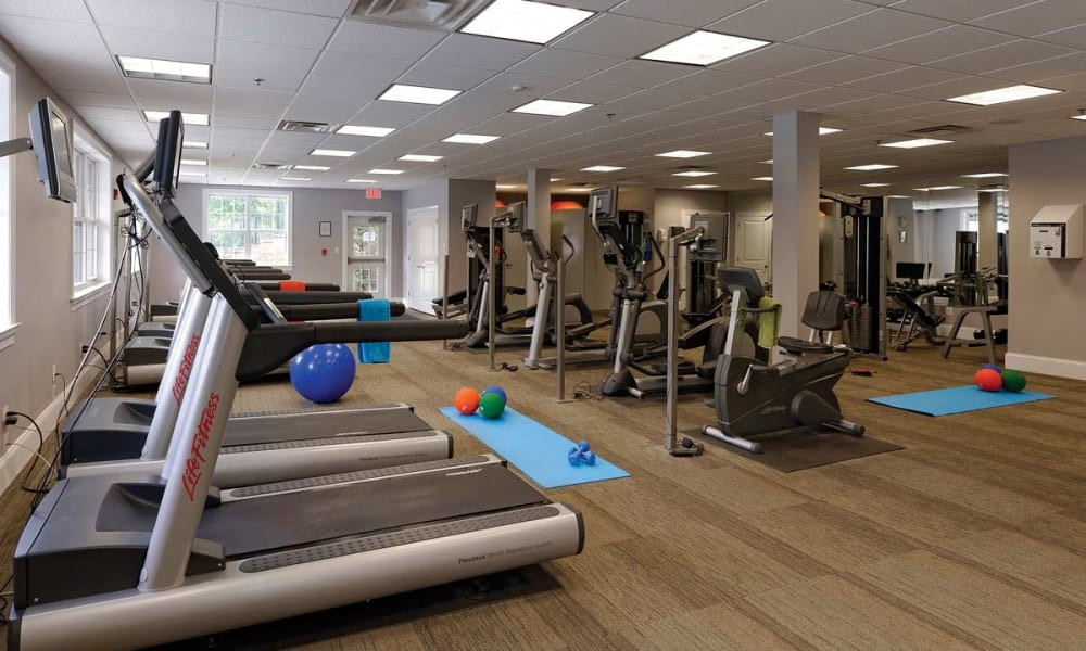 Fitness center for residents at Stonegate at Devon Apartments in Devon, Pennsylvania