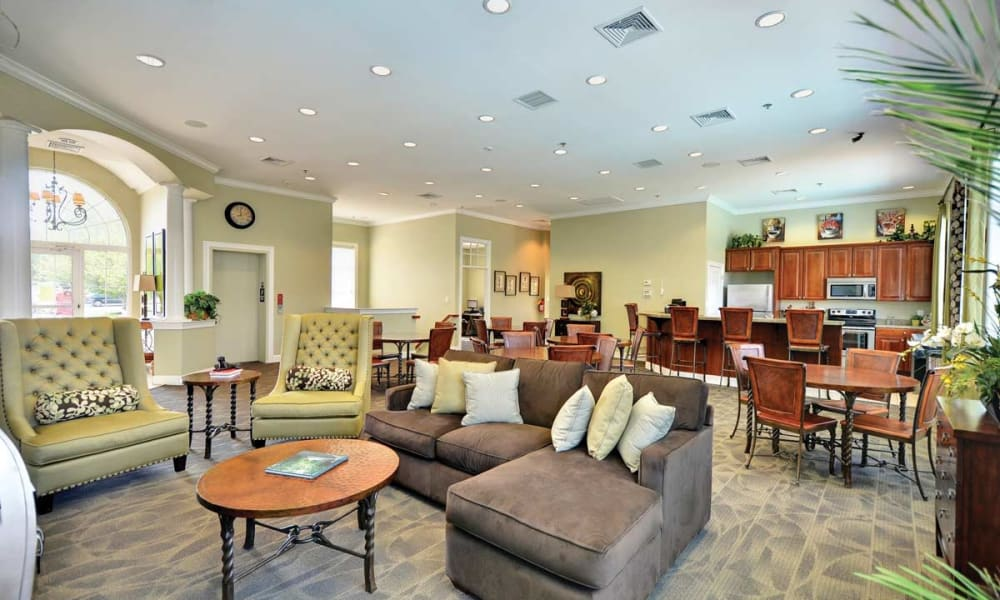 Clubhouse lounge at Stonegate at Devon Apartments in Devon, Pennsylvania