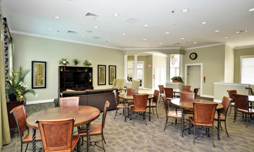Clubhouse dining area at Stonegate at Devon Apartments in Devon, Pennsylvania