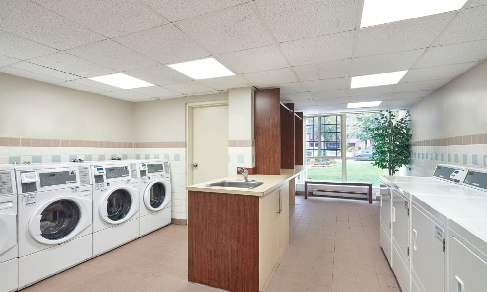 Laundry center at Bristol Court in Mississauga, Ontario