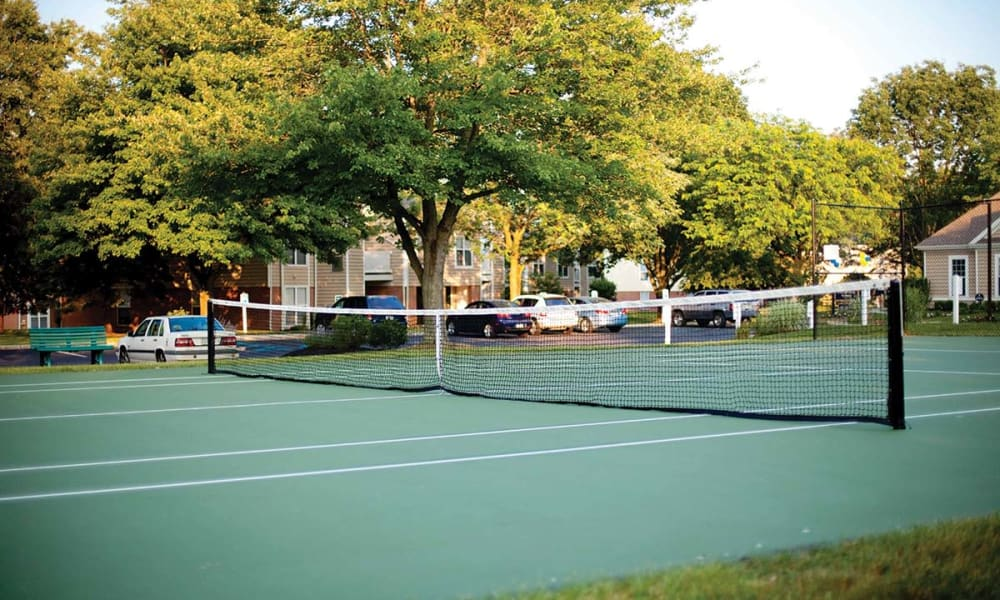 Tennis courts at The Preserve at Milltown in Downingtown, Pennsylvania