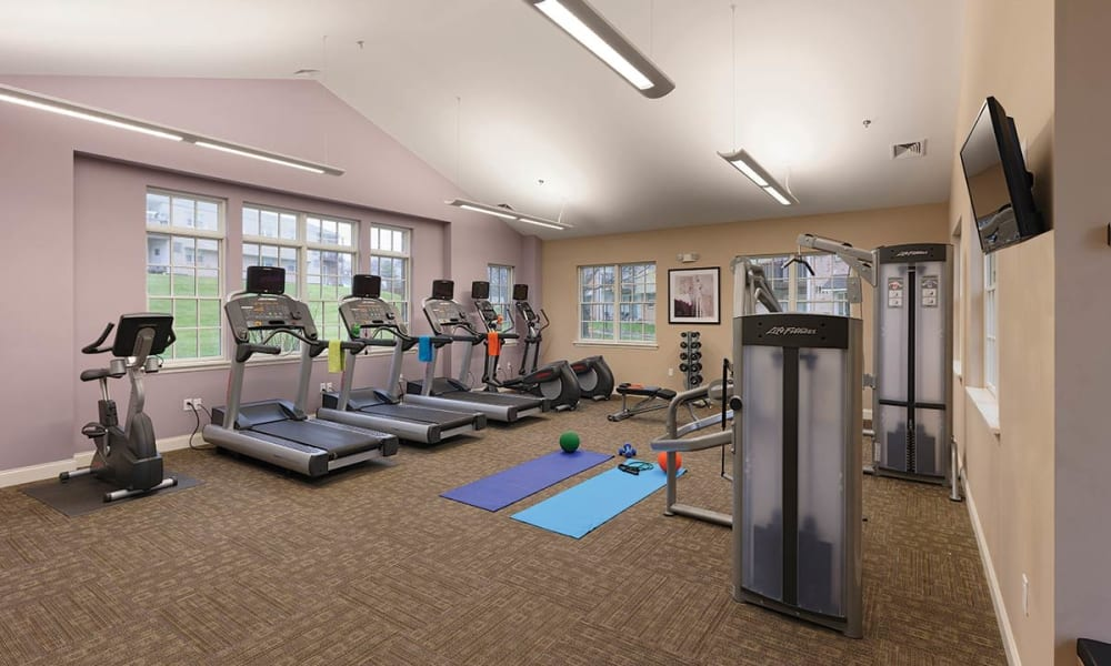Fitness center for residents at Sherry Lake Apartment Homes in Conshohocken, Pennsylvania