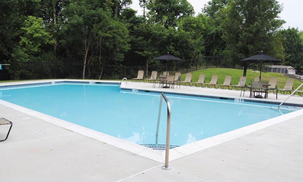 Resort-style swimming pool at Sherry Lake Apartment Homes in Conshohocken, Pennsylvania