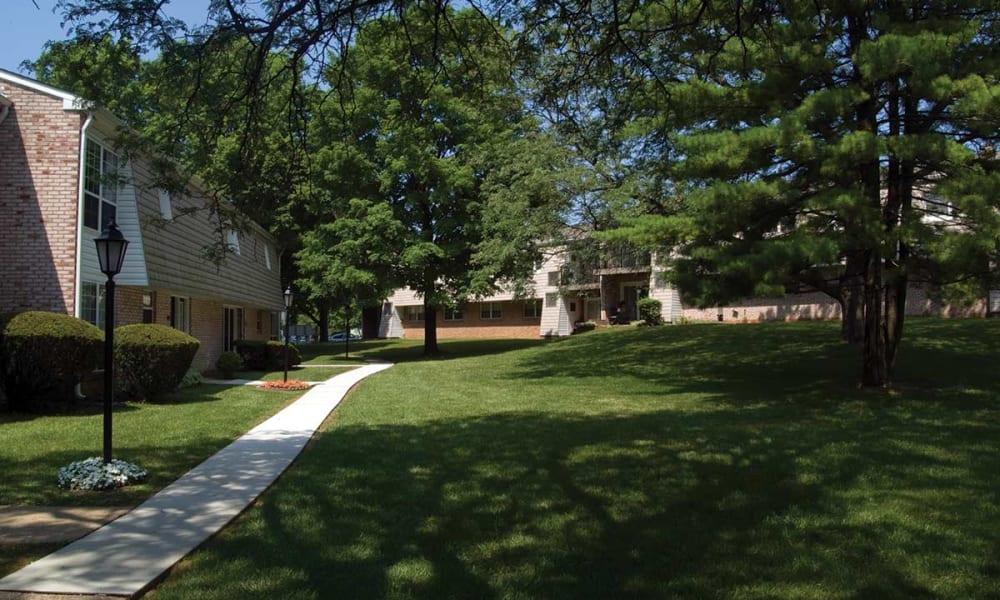 Walking paths at Sherry Lake Apartment Homes in Conshohocken, Pennsylvania